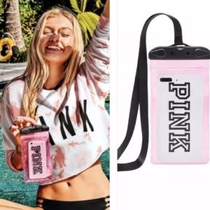 VS PINK Water Resistant Phone Case Pouch Lanyard
